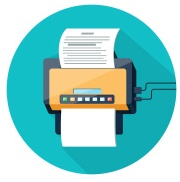 graphic of fax machine