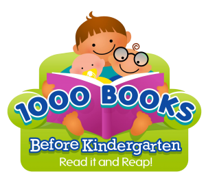 1000 books before kindergradent read it and reap logo