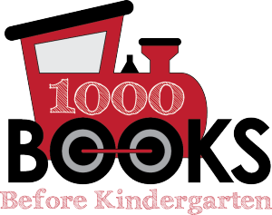 logo for 1000 Books before Kindergarten with train locomotive