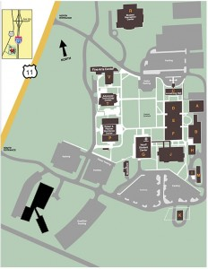 Blue Ridge Community College Campus Map